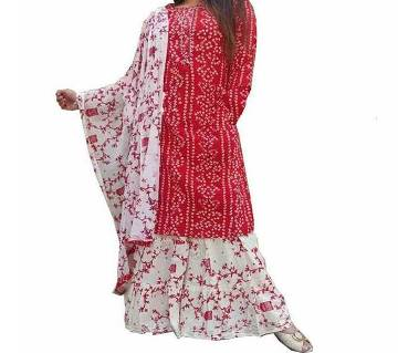 Unstitched Chundri Printed Cotton Salwar Kameez