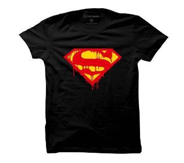 জেন্টস Supermen Black কটন টি-শার্ট