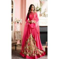 Semi Stitched Embroidery Georgette Three Piece (Copy)
