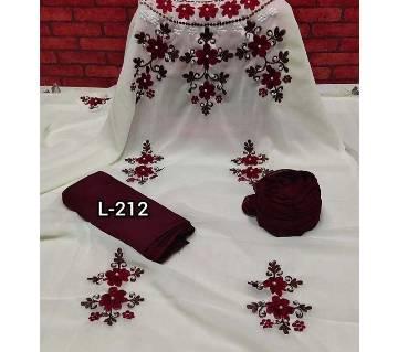 Unstitched SBlock Printed Cotton Salwar Kameez