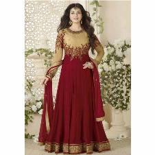 Semi-stitched Georgette Embroidery Party Dress (Copy)