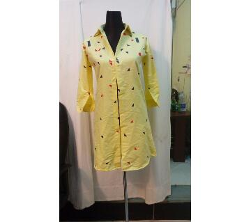 Ladies Cotton Long Shirt