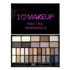 I Heart Eyeshadow Palette Theme Gorgeous - 32 Shades - Uk