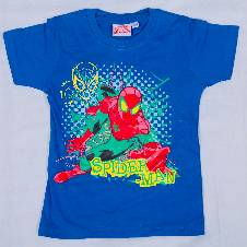 Spider-man Blue Kids Boyz T-Shirt