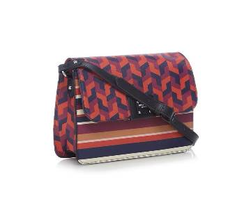 Principles by Ben de Lisi - Multi-coloured geometric print cross body bag.