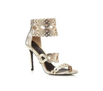 Gold Snakeskin High Heel Sandals