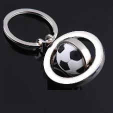 World Cup 3D Rotating Football Key Ring