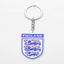England PVC Buckle Football Logo Key Ring