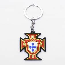 Portugal PVC Buckle Football Logo Key Ring