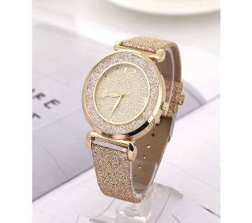 crystal rhinestone stainless steel analogue watch