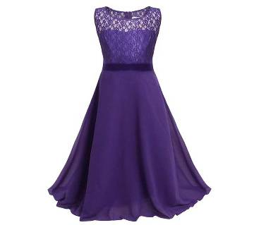 Ladies Sleeveless Floor touch gown