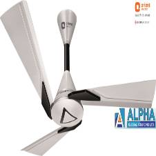 Orina Pearl White- Black Ceiling Fan 48''