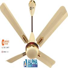 Quadro Metallic Ivory-Cherry Ceiling Fan 48''