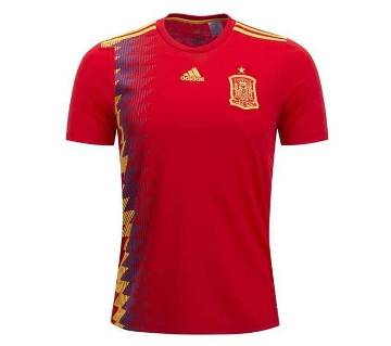 2018 World Cup Spain Half Sleeve Home Jersey (Copy)