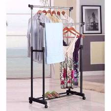 two layer Cloth hanging stand with Show Rack