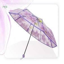 Transparent Auto Fold Umbrella. j