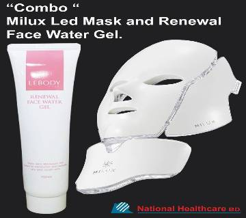 কম্বো অফার: MILUX LED MASK + Renewal face water Gel ( Made in Korea)