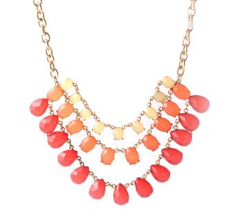 Stone-Bid Necklace Set 1