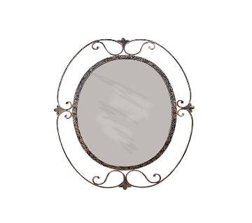 MRR-102 - Oval Round Wall Mirror - Antic and Golden