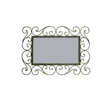 MRR-103 - Rectangle Wall Mirror - Antic