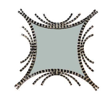 MRR-104 - Rectangle Accent ওয়াল মিরর - Antic