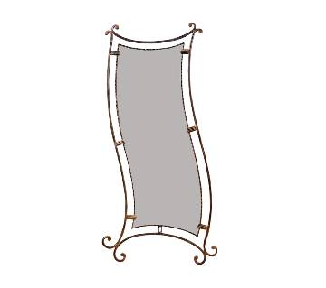 MRR-106 - Rectangle Full Accent ওয়াল মিরর - Antic