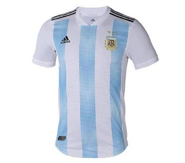 2018 World Cup আর্জেন্টিনা হোম জার্সি - Half Sleeve