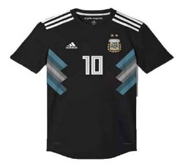 2018 World Cup আর্জেন্টিনা অ্যাওয়ে জার্সি - Half Sleeve