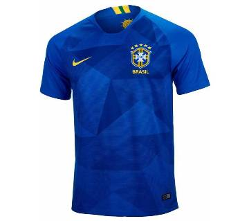 2018 World Cup Brazil Away Jersey - Half Sleeve