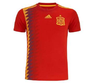 2018 World Cup Spain home Jersey - Half Sleeve