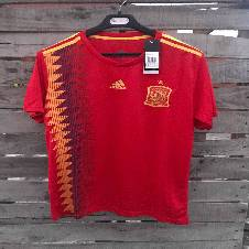 World Cup 2018 Spain Home Jersey -Short Sleeve (Thailand Premium Replica)