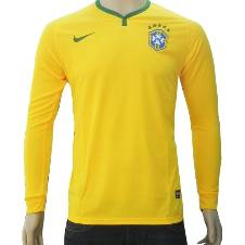 2018 World Cup Brazil Full Sleeve Home Jersey (Copy)