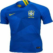 2018 World Cup Brazil Away Jersey - Half Sleeve (Copy)