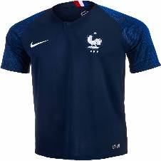 2018 World Cup France Home Jersey - Half Sleeve (Copy)