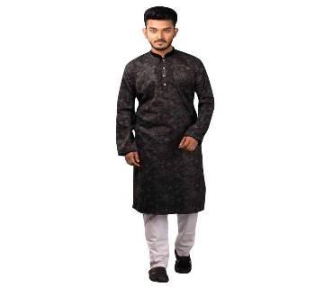 Premium Men's Yarn Dyed প্রিন্টেড পাঞ্জাবি