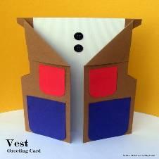 Vest Greeting Card