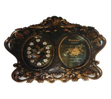 Photo Frame with Table Watch Showpiece for Gift-21cm