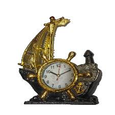 Ship with Watch Showpiece for Gift-24.5cm