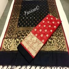 Cotton Silk Bottom Saree