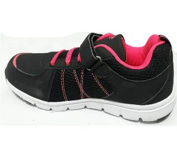 Boys Sneaker -Black and Magenta