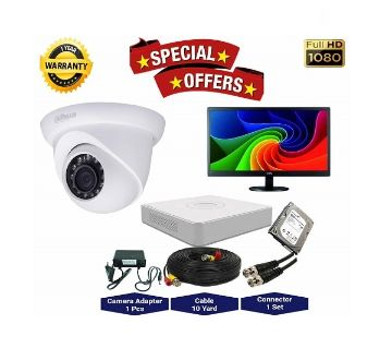 1nos Dahua 2 Megapixels Resolution HD CCTV Camera, DVR, 1TB HDD, 19 LED Monitor Full Package