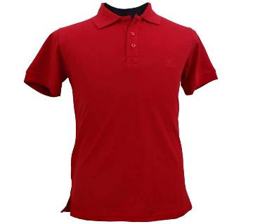 Chinese Red Polo Shirt for Boys
