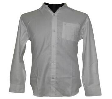 White Herringbone Shirt