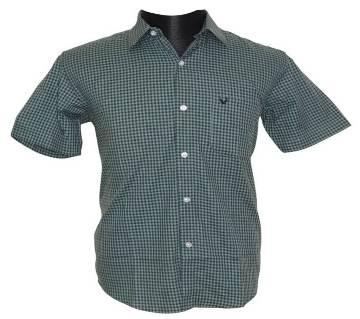 Green Gingham Check Shirt