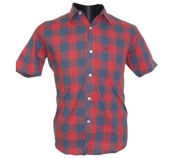 Blue Red Checkered Shirt