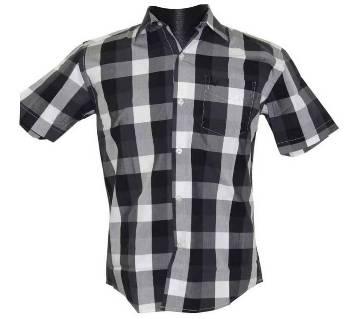 White Black Checkered Shirt