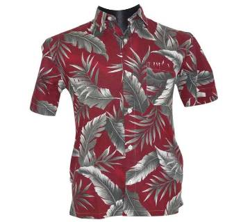 Maroon Floral Shirt