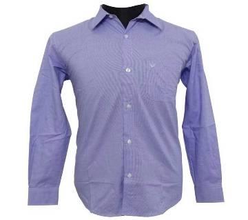 Purple Herringbone Shirt