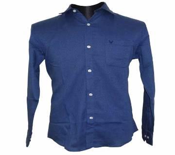 Deep Blue Houndstooth Shirt