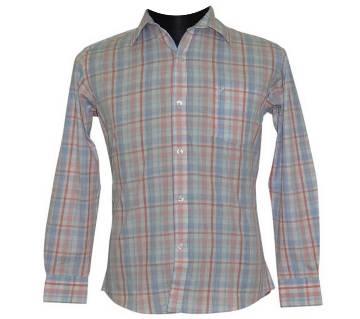 White Tartan Check Shirt